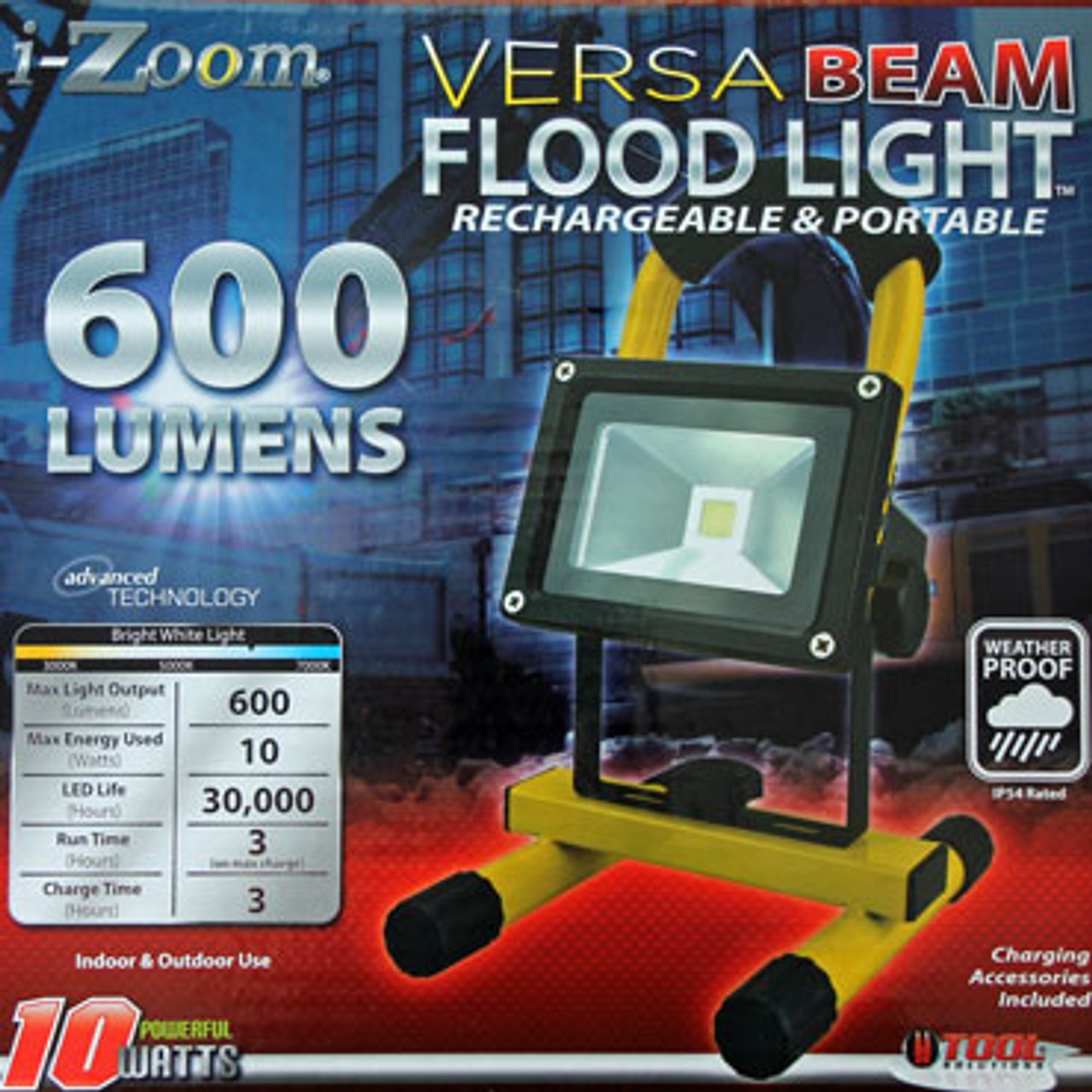 I Zoom 174 Versa Beam Flood Light Rechargeable Amp Portable