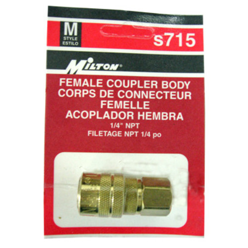 Packaged Milton M-Style Female Coupler