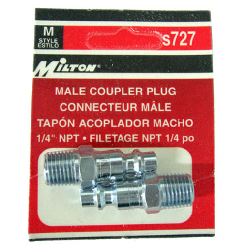 2 Pack Milton M-Style Coupler Plugs