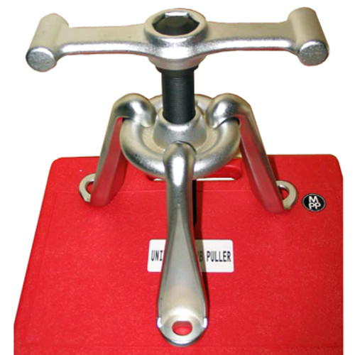 Image of built Hub Puller on top of red storage case