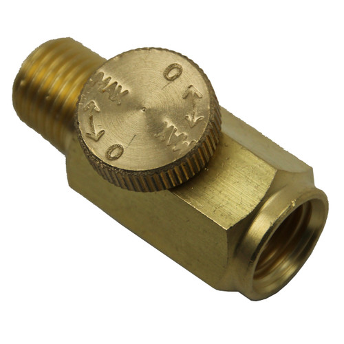 Solid Brass Regulator with view of Valve