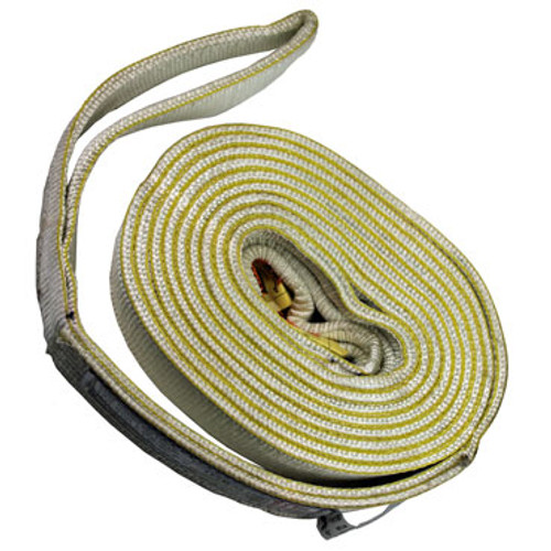 "Rolled up Ultimate Heavy Duty US Made 3""x20' Tow Strap"