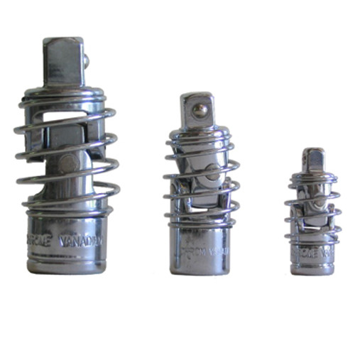 Image of the three different sizes of Spring Universal Joints