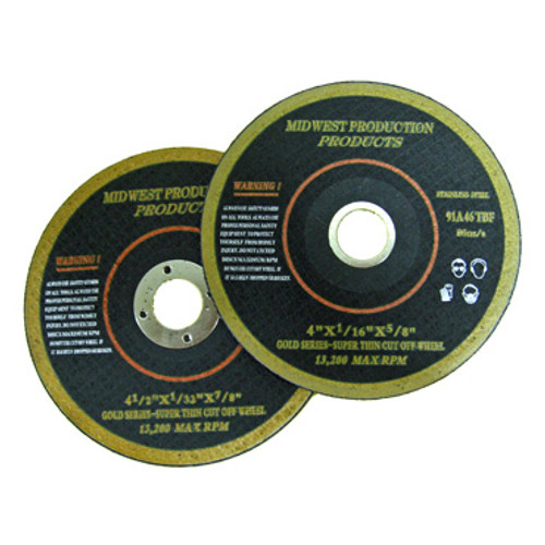 "4"" Wheel has standard 5/8"" Arbor and 4-1/2"" Cut-Off Wheel has standard 7/8"" Arbor Size"