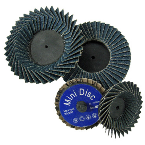 "Image of two each 2"" and 3"" Mini Flap Discs"