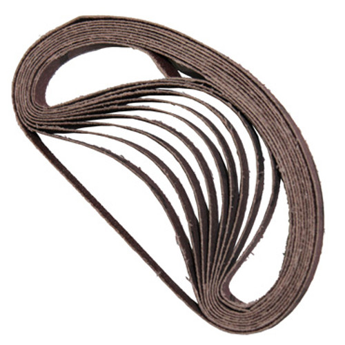View of 10 replacement belts for Air Belt Sander