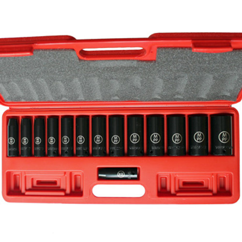 Image of SAE Impact Socket set in opened carrying case