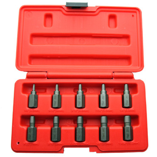 View of MPP 10 PC Screw Extractor Set in open case