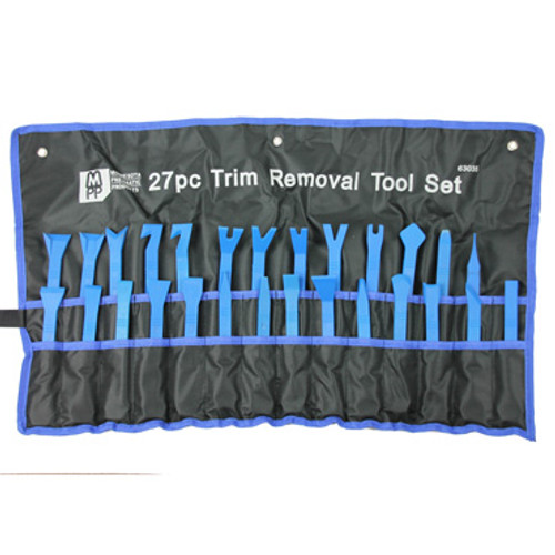 Image of Complete 27 Pc. Trim Removal Tool Set in Roll-Out Pouch