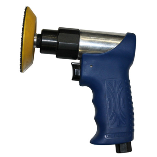 """Side view of Mini Air Polisher with 3"""" Pad"""