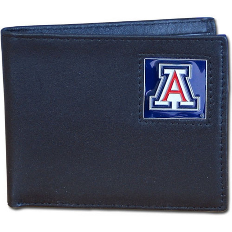 Arizona Wildcats Black Bifold Wallet NCCA College Sports CBI54