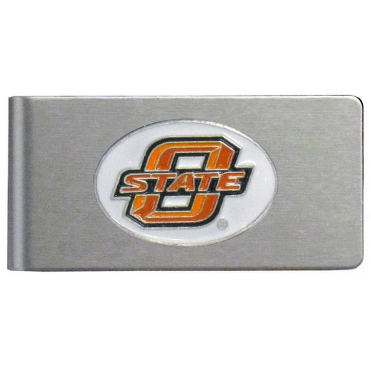 Oklahoma State Cowboys Brushed Money Clip NCCA College Sports CBMC58