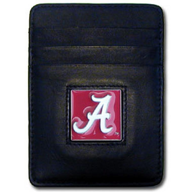 Alabama Crimson Tide Leather Money Clip Card Holder Wallet NCCA College Sports CCH13