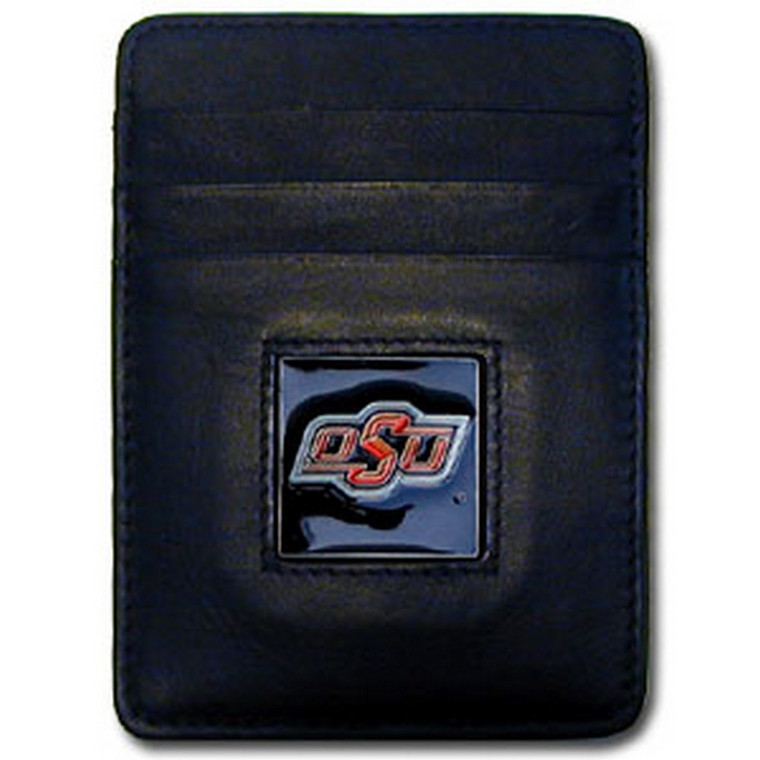 Oklahoma State Cowboys Leather Money Clip Card Holder Wallet NCCA College Sports CCH58