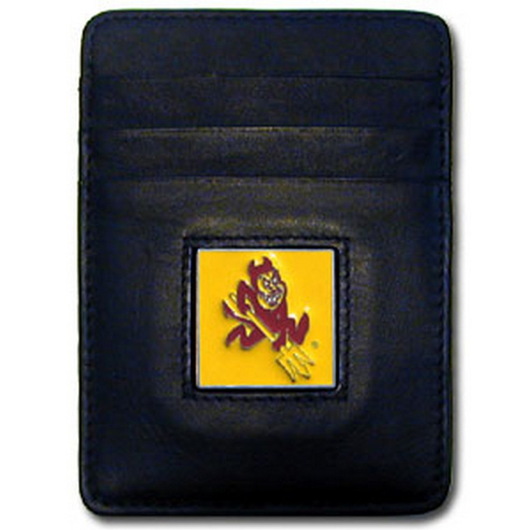 Arizona State Sun Devils Leather Money Clip Card Holder Wallet NCCA College Sports CCH68