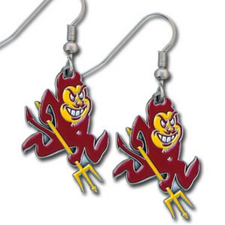 Arizona State Sun Devils Dangle Earrings NCCA College Sports CDE68