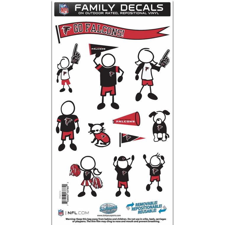 Atlanta Falcons Medium Family Decal Stickers FFMD070