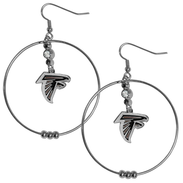 Atlanta Falcons Hoop Earrings FHE070