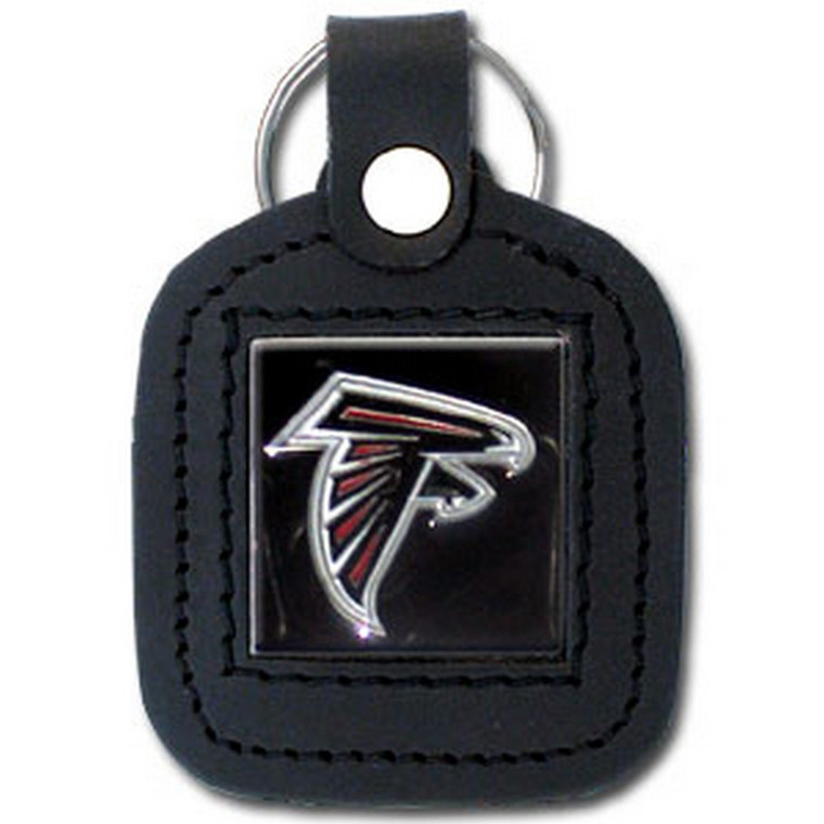 Atlanta Falcons Square Leather Key Fob NFL Football FLK071