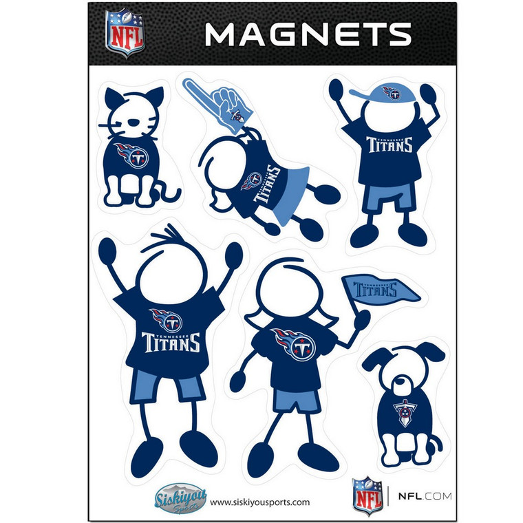 Tennessee Titans Family Magnets NFL Football FRMF185