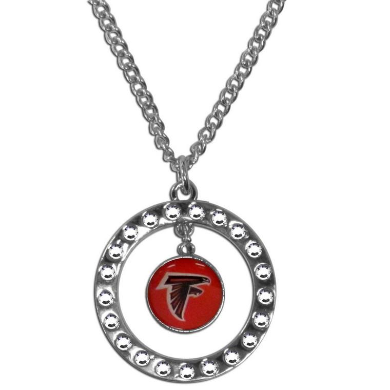 Atlanta Falcons Rhinestone Hoop Necklace NFL Football FRN070