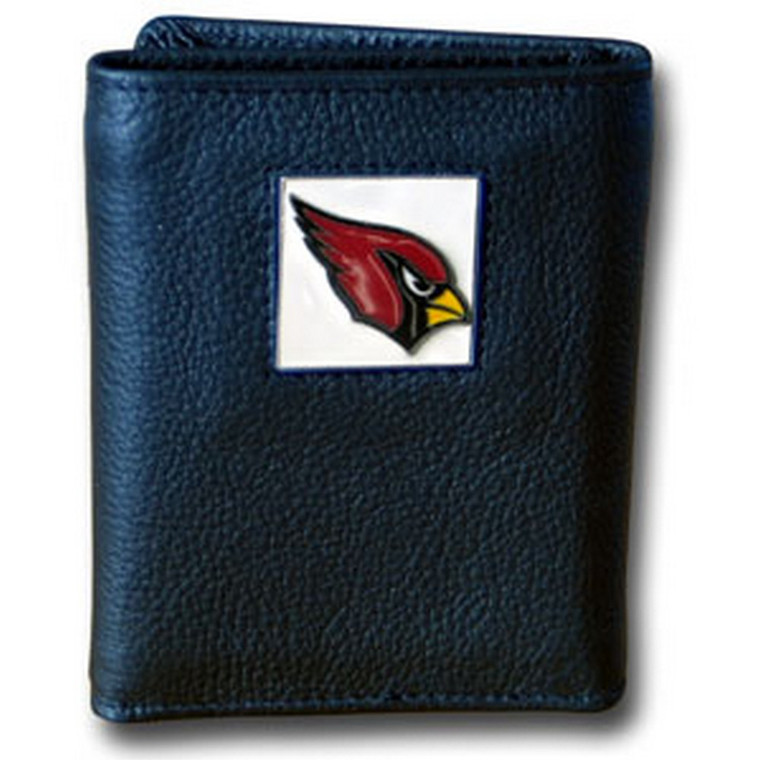 Arizona Cardinals Leather Trifold Wallet with Nylon Liner NFL Football FTRN035