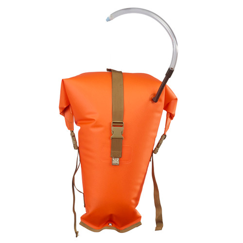 Salmon Stowfloat - Combination Safety Float/Dry Bag - Orange (FrontView)