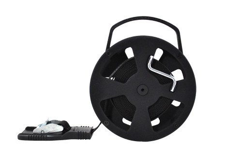 StrapSto Cam Strap Reel with 15 Feet Strap - Black