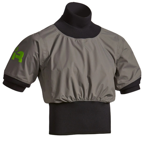 Short Sleeve Nano Paddle Jacket - Charcoal - Front