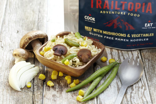 Gluten Free Ramen Noodles - Beef Flavored with Vegetables and Mushrooms - MainImage
