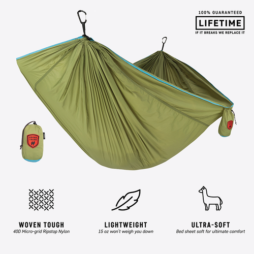 Trunktech Single Hammock - Green/Aqua - MainImage
