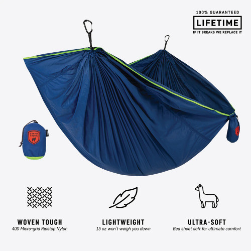 Trunktech Single Hammock - Navy/Green - MainImage