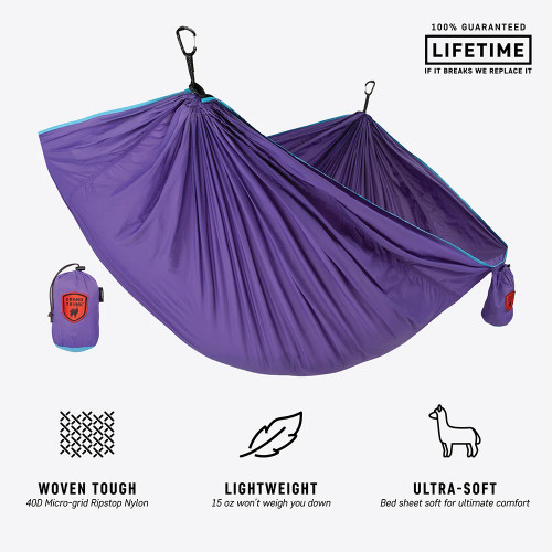 Trunktech Single Hammock - Aqua/Violet - MainImage