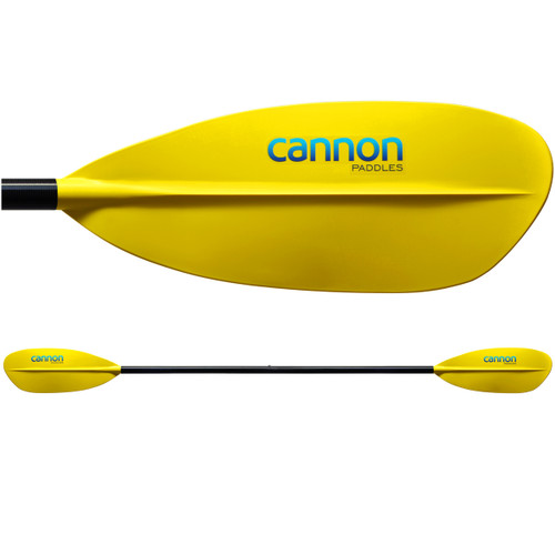 Cascade Kayak Paddle - Yellow Blade and Shaft (Main View)