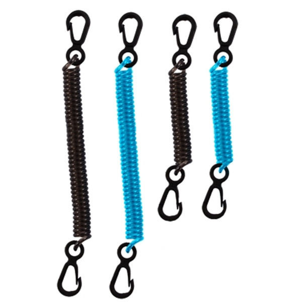 Dry Doc Coiled Tether 4-Pack:  Variable Colors: Black and Teal