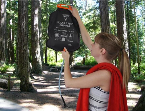 PVC-Free Solar Shower - Lifestyle