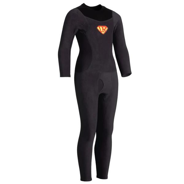 Kids Thick Skin Union Suit - Black - Front