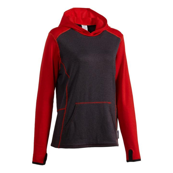 Women's Highwater Hoody: Red Orange