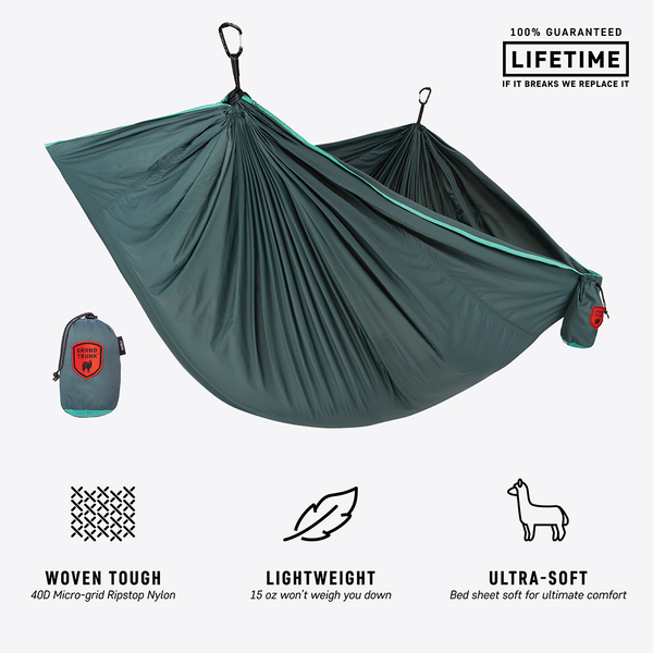 Trunktech Double Hammock - Teal/Turquoise - MainImage