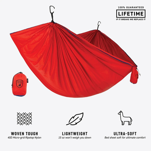 Trunktech Single Hammock - Red/Navy - MainImage