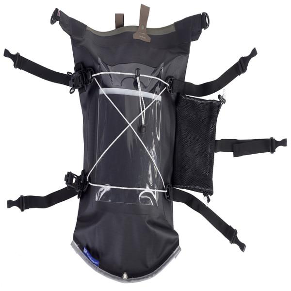 Aleutian Kayak Deck Bag with Water Bottle Holder - Black