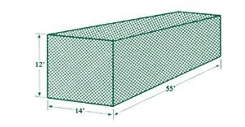 Jugs Batting Cage Netting #2 (55'L x 14'W x 12'H)  191 lb Breaking Strength