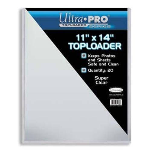 "Ultra Pro 11"" X 14"" Toploader 20ct"