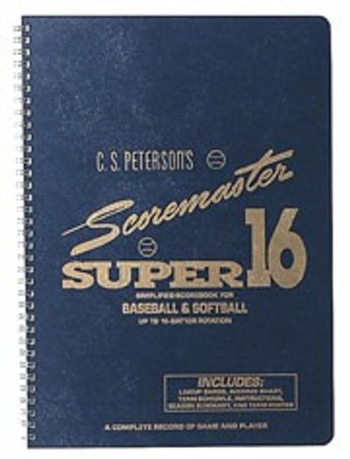 C.S. Petersons Super 16 Scoremaster Baseball/Softball Scorebook
