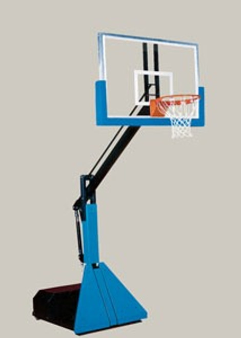 Bison Glass Max Portable Adjustable Basketball System (Glass)