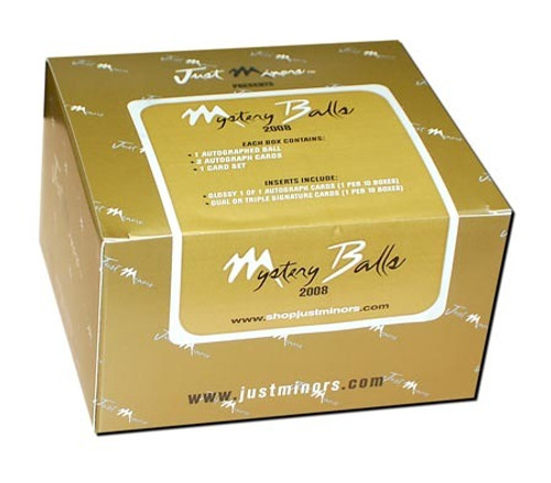 2008 Just Minors Mystery Balls Hobby Baseball Hobby Box