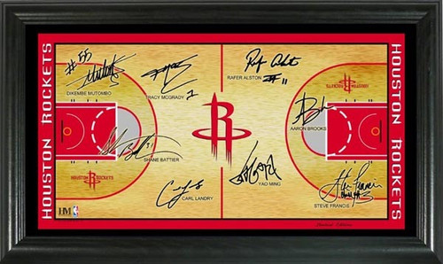 Highland Mint Houston Rockets 2008 Signature Court Photomint