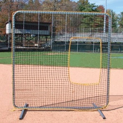 Pro-Gold Softball Protective Screen With Cut Out
