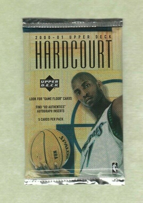 2000-2001 Upper Deck Hardcourt Basketball 1 Unopened Mint Pack (RARE)