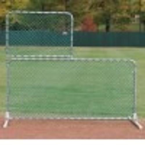 Osborne Flip-Top ''L'' Pitcher's Screen - 7'H x 8'W